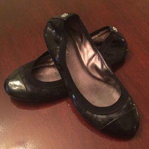 Coach Black Sequined Ballet Flats 5.5M
